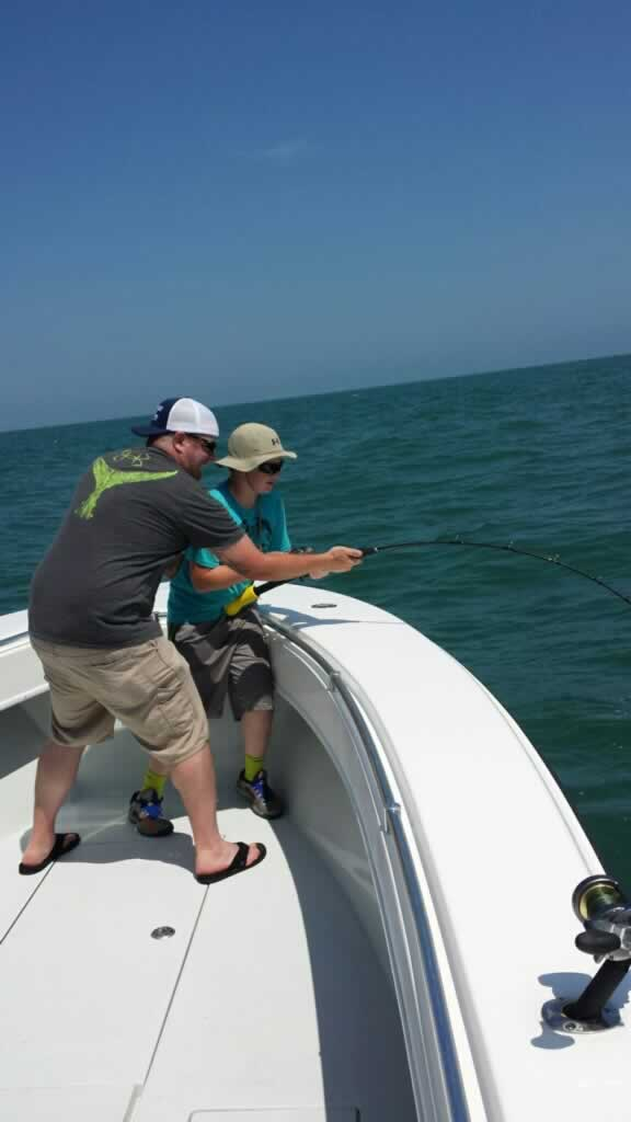 Spanish mackerel and shark trip holden beach fishing for Holden beach fishing